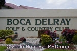 sign in front of Boca Delray Golf & Country Club in Delray Beach