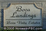 sign in front of Boca Landings in Boca Raton